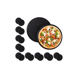 relaxdays Pizzablech 20 x Pizzablech rund, Stahl