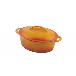 Fisko Profi-Gussbräter 4,3 Liter orange