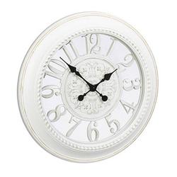 relaxdays Wanduhr Barock weiß 56,0 cm Kunststoff