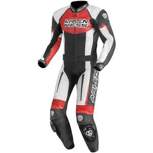Arlen Ness Monza 2-Teiler Motorrad Lederkombi, schwarz-weiss-rot, Größe 48