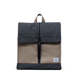 Rucksack HERSCHEL - City Mid-Volume Timberwolf-Black Denim (04514)