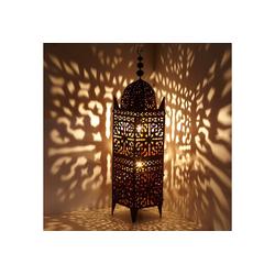 Casa Moro Laterne Orientalische Laterne marokkanische Eisenlaterne Firyal H-136 cm x breite 33 edelrost-braun für draußen & Innen, hängend & stehend, Kunsthandwerk aus Marokko, L1656