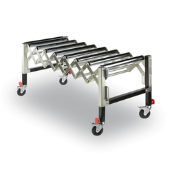 Rollenbahn flexibel, 620-950 mm, 130 kg
