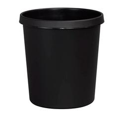 Helit Papierkorb mit Rand 18 L schwarz