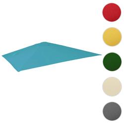 Bezug für Luxus-Ampelschirm HWC-A96, Sonnenschirmbezug Ersatzbezug, 3x3m (Ø4,24m) Polyester 2,7kg ~ türkis