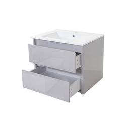 MCW Waschtisch MCW-B19, Soft-Close-System, Inkl. Aussparung für Siphon grau