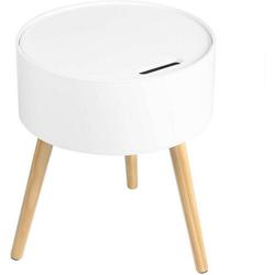 Woltu Nachttisch, Nachttisch & Nachtkommode aus Holz in eleganter Stil weiß