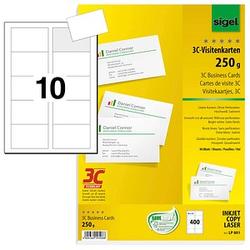 400 SIGEL Visitenkarten LP801 weiß