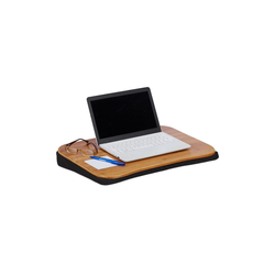 relaxdays Laptop Tablett Laptopkissen Bambus, Stoff