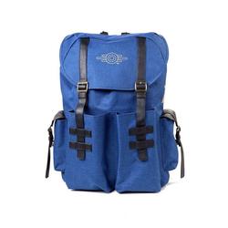 Bioworld Cityrucksack Fallout 76 - Gold Foil Logo Printend Solid Blue Melange Backpack Rucksack Neu
