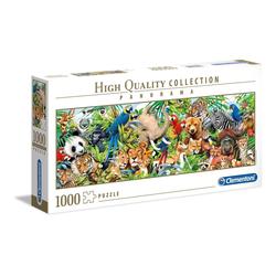 Clementoni® Puzzle 39517 Wildlife 1000 Teile Panorama Puzzle, 1000 Puzzleteile, Panorama Format