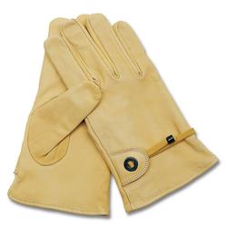 MFH - Max Fuchs Western Lederhandschuhe gefüttert beige, Größe XL/10