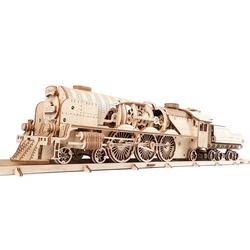 UGEARS 3D-Puzzle UGEARS 3D-Puzzle Modellbausatz V-EXPRESS DAMPFLOKOMOTIVE mit TENDER, 538 Puzzleteile