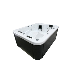 HOME DELUXE Whirlpool-Sitzbank Outdoor Whirlpool White Marble, ohne Treppe und Thermoabdeckung