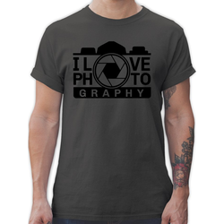 Shirtracer T-Shirt I love Photography - schwarz - Fotografen - Herren Premium T-Shirt M