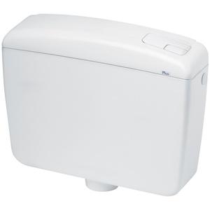 Waterful SPK1000 WC-Spülkasten/Toilettenkasten, 2 Tasten, Weiß