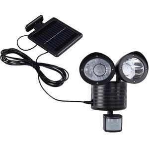 LED Solar Außen Wand Leuchte Bewegungsmelder Strahler Einfahrt Hof Beleuchtung Harms 504091