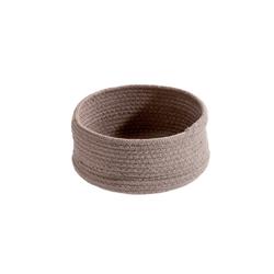 spirella Aufbewahrungskorb TOBAGO (1 Stück), Aufbewahrungskorb aus geflochtener Baumwolle, formstabil, Ø 21x10 cm Ø 21 cm x 10 cm