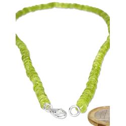 Adelia´s Kette ohne Anhänger Peridot Halskette 925 Silber 45 cm