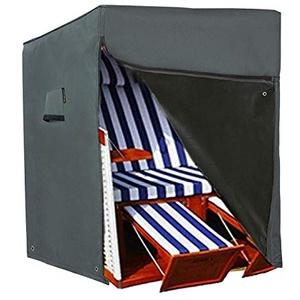 HENTEX Schutzhülle Strandkorb, Strandkorb Schutzhülle, Material mit aktiven Atmen Funktion, 137x100Dx140/165H cm