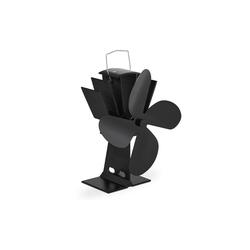 relaxdays Kaminventilator Ofenventilator ohne Strom schwarz