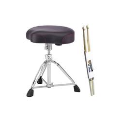 Pearl Drums Schlagzeug Pearl D-3500 Schlagzeug-Hocker + Sticks