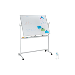 relaxdays Memoboard Mobiles Whiteboard 140 cm x 54.5 cm x 175 cm