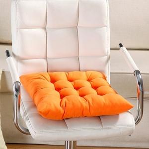Sitzkissen, Indoor Outdoor aus Vollweide Sitzkissen für Garten, der Esszimmerstuhl 35 x 34 cm, Stuhl Pad 40cm by 40cm Orange