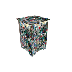 WERKHAUS® Hocker Photo-Hocker 295 x 295 x 420 mm, Fotohocker 037 - Mosaik 29.50 cm x 42.00 cm x 29.50 cm
