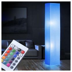 etc-shop Stehlampe, RGB LED 15 Watt Steh Lampe Fuß Schalter Papier Steh Leuchte Farbwechsler Dimmer