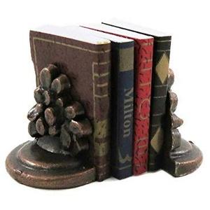 Melody Jane Puppenhaus Bücher & Bronze Blume Buchstützen Büro Studien Bücherregal Zubehör