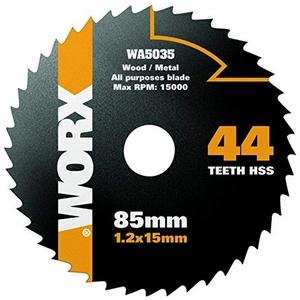 Worx HSS Sägeblatt 85 mm. 44 Zähne. 1 Stück. WA5035