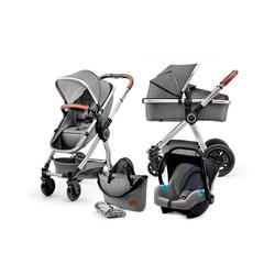 Kinderkraft Kombi-Kinderwagen Kombi Kinderwagen Veo, 3in1, grey grau