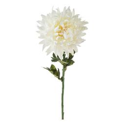 Kunstblume Kunstblume Chrysantheme mit biegsamen Stiel Chrysantheme, matches21 HOME & HOBBY, Höhe 64 cm weiß