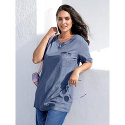 Shirt MIAMODA Jeansblau