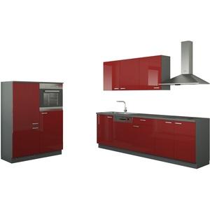 Küchenzeile ohne Elektrogeräten  Chemnitz ¦ rot