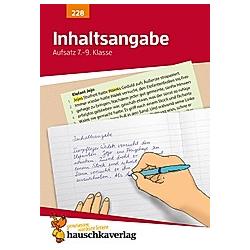 Aufsatz  Inhaltsangabe. Gerhard Widmann  - Buch