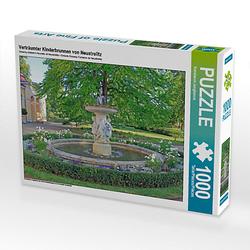 Verträumter Kinderbrunnen von Neustrelitz Lege-Größe 64 x 48 cm Foto-Puzzle Bild von Konstanze Junghanns Puzzle