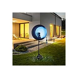 miaVILLA Solarleuchte Elfe am Mond Schwarz/Blau