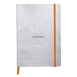 Rhodiarama flexi Blattes Notizbuch A5 80 Blatt liniert Papier elfenbein 90g  Silber - Buch