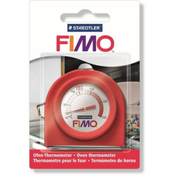 Ofen-Thermometer Fimo rot
