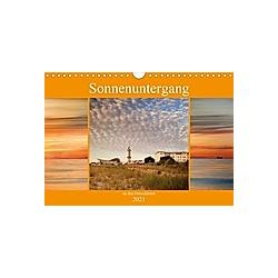 Sonnenuntergang an der Ostsee (Wandkalender 2021 DIN A4 quer)