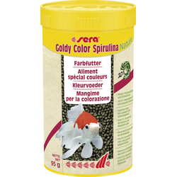 Sera Fischfutter goldy color spirulina, 250 ml