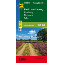 Heidschnuckenweg Hamburg Fischbeck Celle Wanderkarte Leporello 1:35.000