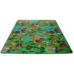 Kinderteppich Camping, Living Line, rechteckig, Höhe 7 mm, Straßen-Spielteppich, Camping Motiv 140 cm x 200 cm x 7 mm