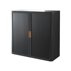EASYOFFICE Rollladenschrank easyOffice Korpus schwarz, Griff farbig 110 cm x 104 cm x 41.5 cm