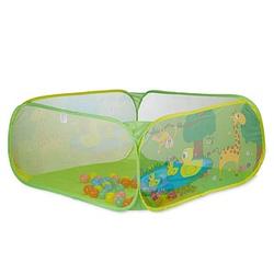 relaxdays Bällebad Tiermotive grün 110,0 x 110,0 x 50,0 cm