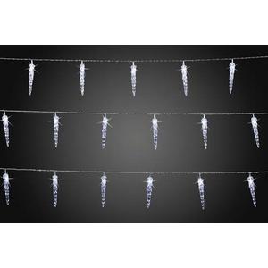 Hellum 564433 Motiv-Lichterkette Eiszapfen Außen netzbetrieben LED Neutral-Weiß Beleuchtete Länge