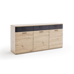 MCA furniture Sideboard Cortona in Balkeneiche-Optik/anthrazit