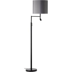 my home Stehlampe Loui, Stehleuchte mit flexiblem Leselicht, getrennt schaltbar,Höhe 162 cm